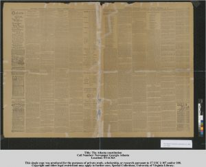 Image of a mended newspaper