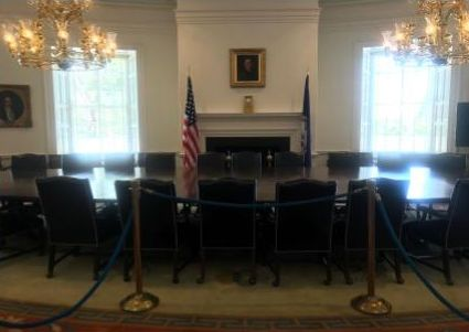 view of a room in the UVA Rotunda