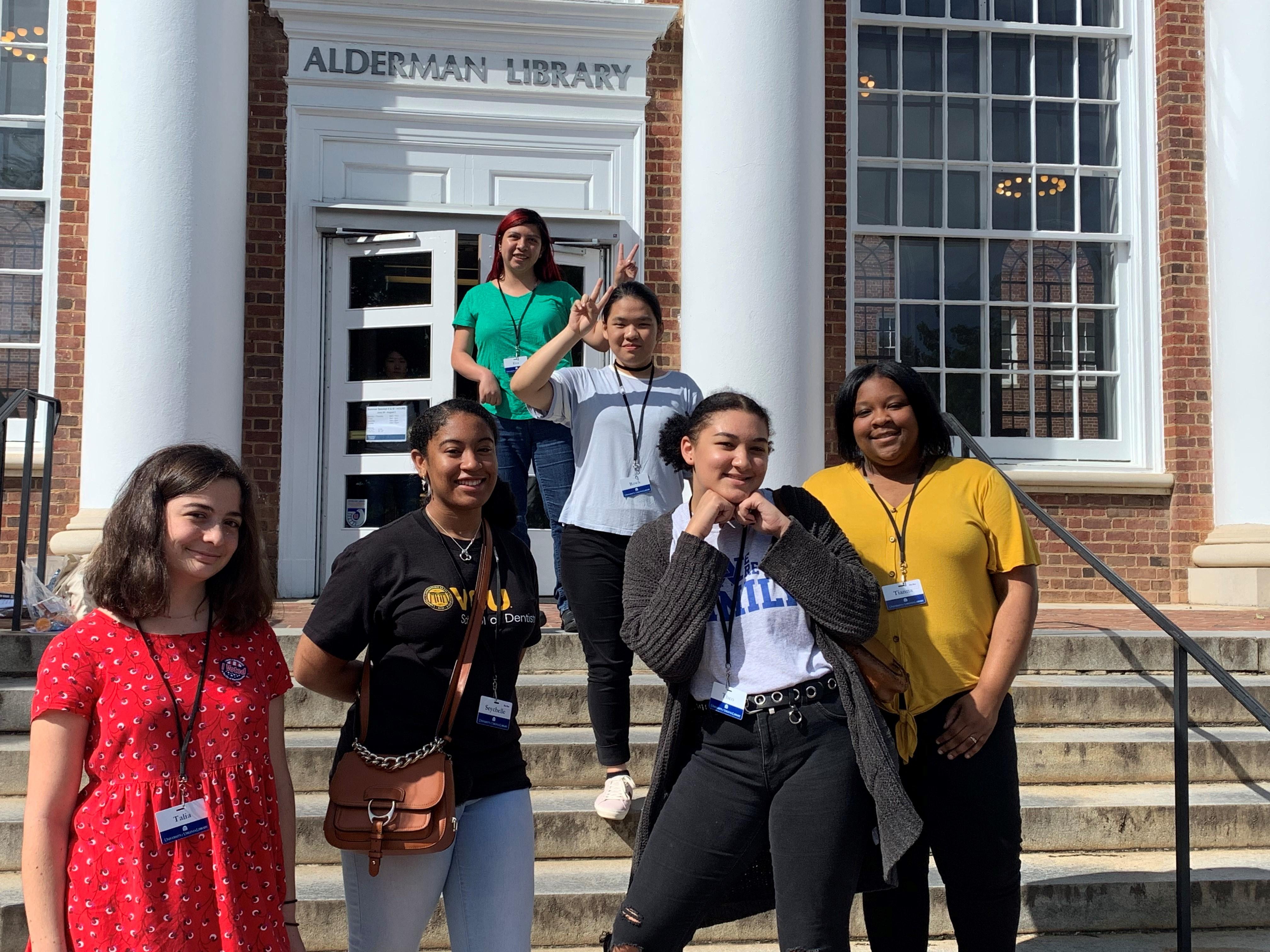 six 2019 high school interns