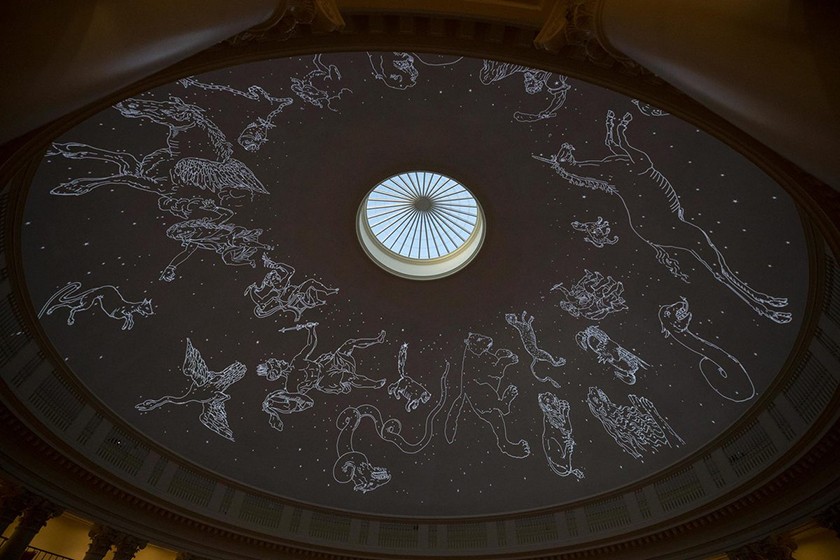 Figures of constellations projected on the inner dome of the UVA Rotunda